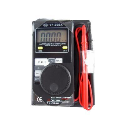 台湾泰玛斯tenmars 數位名片型三用電錶 YF-220A