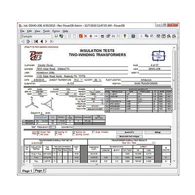 美国MEGGER 验收和维护测试数据管理软件 PowerDB Pro