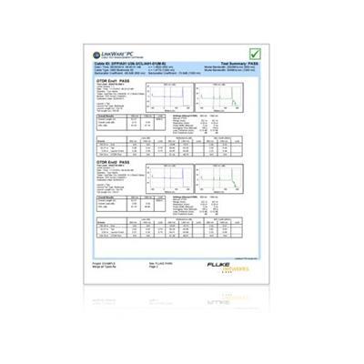 美国福禄克 FLUKE LinkWare™ PC Cable Test Management Software