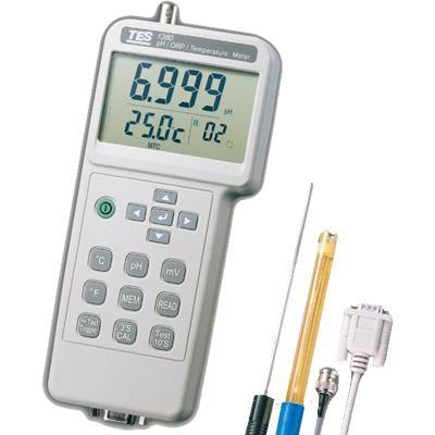 台湾泰仕TES  PH值测试仪可记录型PH值计(RS232) TES-1380K