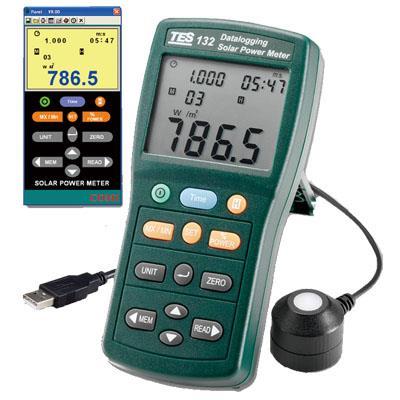 台湾泰仕TES记录型太阳能光功率表TES-132