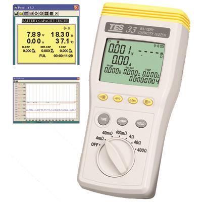 台湾泰仕TES(RS-232)电池测试器TES-33