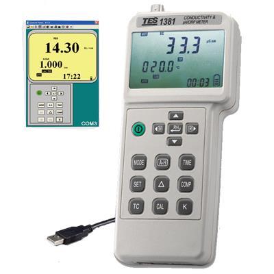 台湾泰仕TES氧化还原电位计酸碱度计TES-1381K