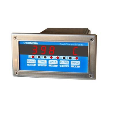 美国omega OMEGA 双通道过程监测器1/8 DIN尺寸 DP3300-TC-1
