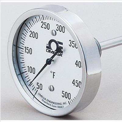 美国omega OMEGA 双金属杆温度计 B-50-500F-9-1/2