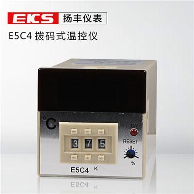 扬丰仪表 出口型温控表E5C4 温控器数显拨码式调节温控仪