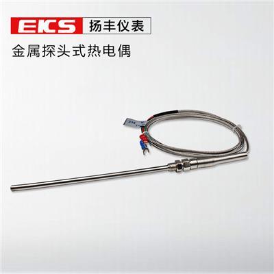 扬丰仪表 防水型 金属线 K型 探头式热电偶 2M 杆直径5mm