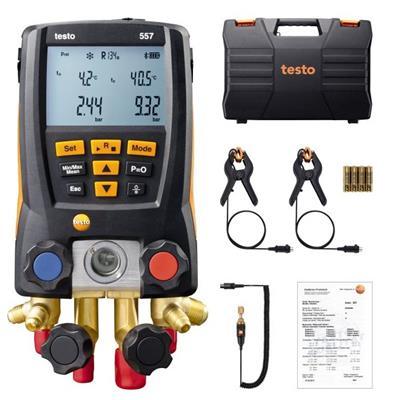德国德图TESTO  智能专业级电子冷媒表组 testo 557 套装 - 订货号  0563 1557