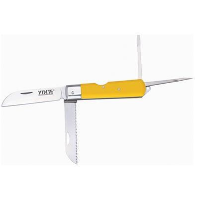 余姚市 银特   电工刀 绝缘 多功能 木柄 直刃 折叠   YT-0454多用
