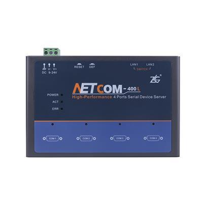 致远电子 工业级串口服务器NETCOM-400L