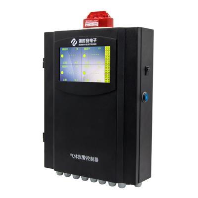 保时安 工业用壁挂固定式气体报警控制器三十二路防爆型可燃气体检测仪 BH-50