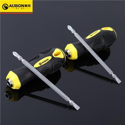 奥邦 铬钒钢两用螺丝刀一字十字螺丝刀多规格手动螺丝刀 4寸/100mm两用螺丝刀