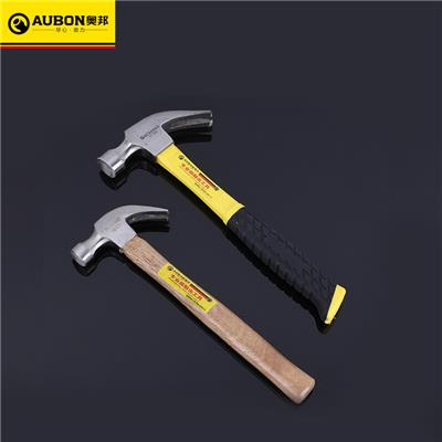 奥邦 防震敲击高碳钢羊角锤 纤维柄起钉锤装修工程羊角锤 0.25木柄羊角锤