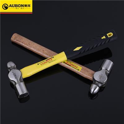 奥邦 五金工具木柄圆头锤1P-2.5P家用建筑纤维柄圆头锤子 木柄1p(6把/盒)