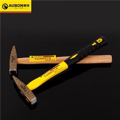 奥邦 五金防震木柄钳工锤 多规格防脱落纤维柄木工锤子 木柄200g(6把/盒)