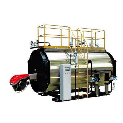 永安锅炉 卧式顺燃三回程 燃油燃气锅炉 醇基燃料承压 热水锅炉WNS2.8