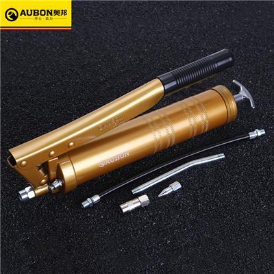 奥邦 黄油枪500cc600CC双压杆双排气黄油枪 手动500克600 土豪金双压杆600g(12把/件)