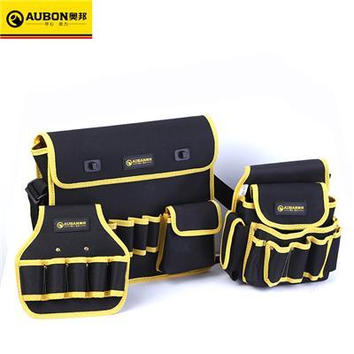 奥邦 工具腰包防水牛津布电工工具包多功能帆布电工单肩工具包 腰间单层多孔腰套