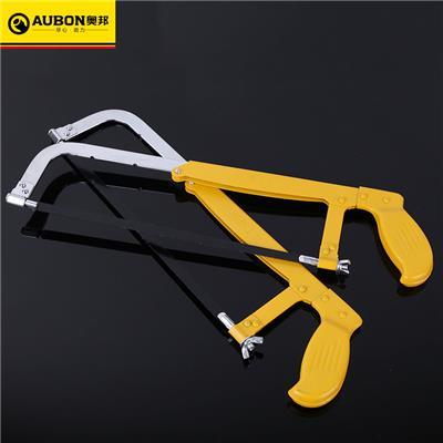 奥邦 加厚钢锯架迷你钢锯弓耐用手工可调节式300mm钢锯架 12寸