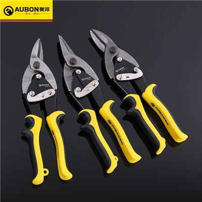 奥邦 五金工具10寸铬钒钢航空剪剪钢丝铁皮剪不锈钢铁皮剪 左弯
