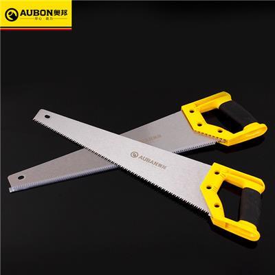 奥邦 65锰钢双色18寸多功能手板锯塑料柄木工锯公制手锯 18寸-450mm 10把/盒 0.4kg/把