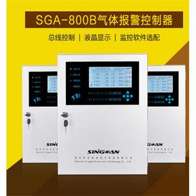 深国安 总线制数码显示1-99路报警控制主机/RS485气体检测仪报警控制器 SGA-800C