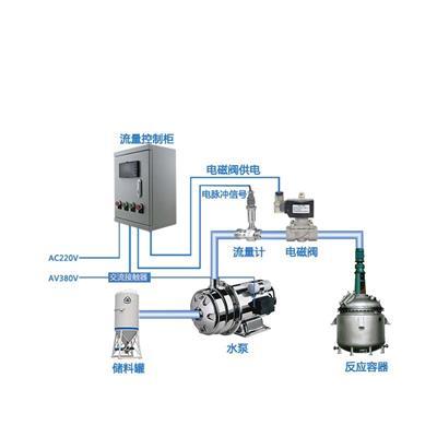 联测 流量定量控制系统 水/油/液体流量计 配电磁阀 控制柜