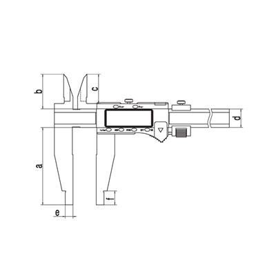 广陆量具 双内爪数显卡尺 0-500mm 货号111-604Z-1