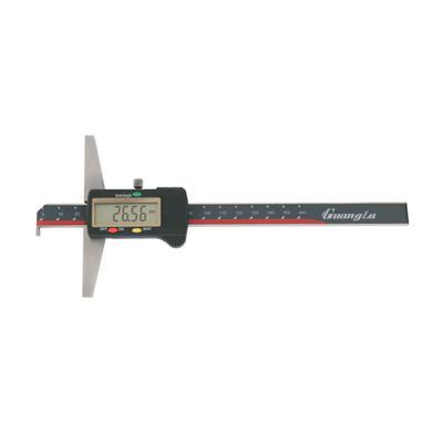 广陆量具 单钩头数显深度尺 0-150mm 货号123-101