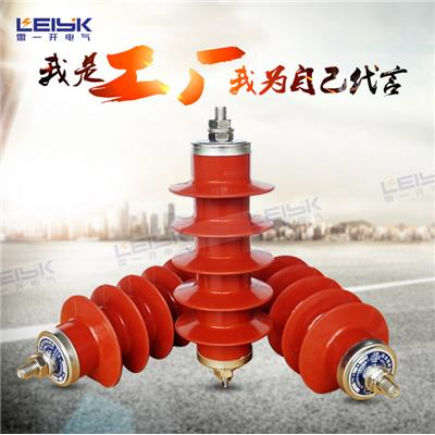 雷一 复合外套金属氧化物避雷器 HY5WX-12.7/60