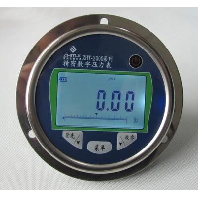 智拓 轴向数字压力表 精密数字表 轴向带边 ZHT-2000