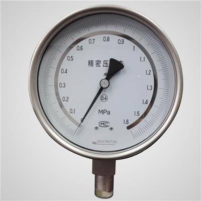 红旗仪表 不锈钢精密压力表 YB-150BF