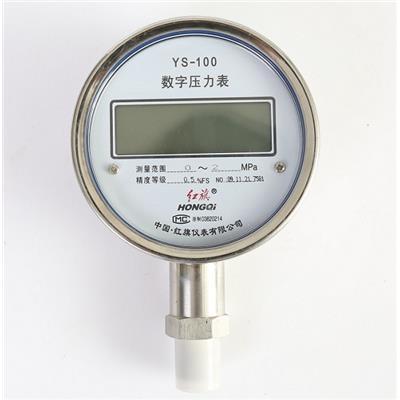 红旗仪表 数字压力表 YS-100