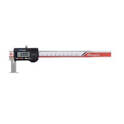广陆量具 扁头内沟槽数显卡尺 22-150mm 货号115-101