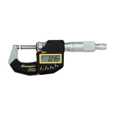 广陆量具 IP65防水数显千分尺 0-25mm 货号211-701