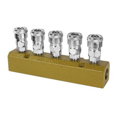 美特厂家直销座立式二通/三通/四通/五通接头 多管路快速接头座立式接头