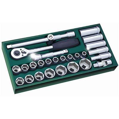 世达工具SATA工具托组套-27件12.5MM系列套筒09903