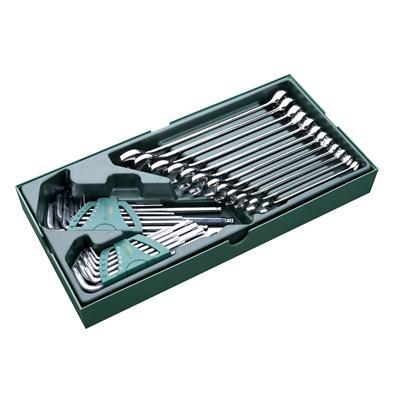 世达工具SATA工具托组套-30件两用扳手及内六角扳手09906