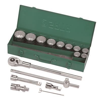 世达工具SATA15件19MM系列12角套筒组套09015