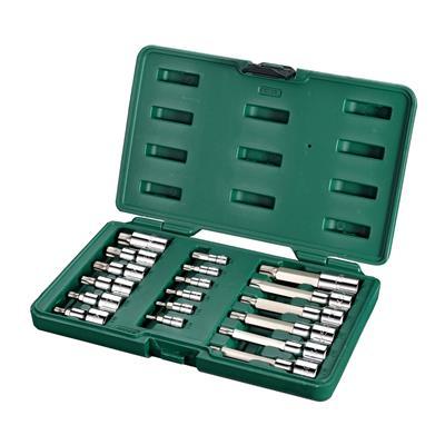 世达工具SATA18件6.3x12.5MM系列花形旋具套筒组套09052