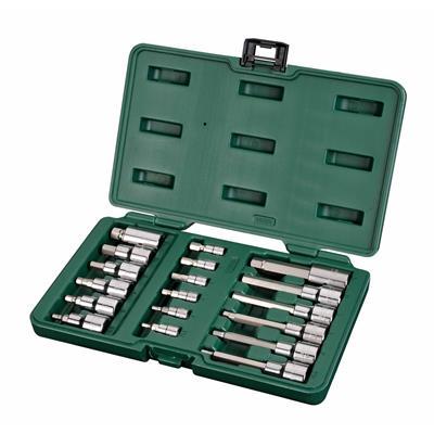 世达工具SATA18件6.3x12.5MM系列六角旋具套筒组套09053