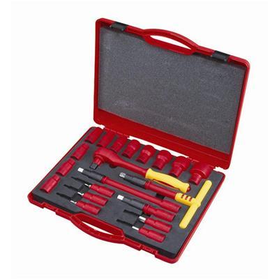 世达工具SATA20件12.5MM系列VDE绝缘套筒组套09267