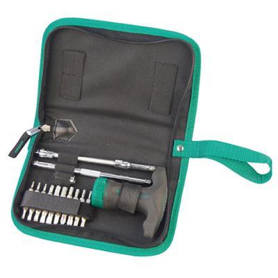 世达工具SATA24件T形柄棘轮螺丝批组套09341