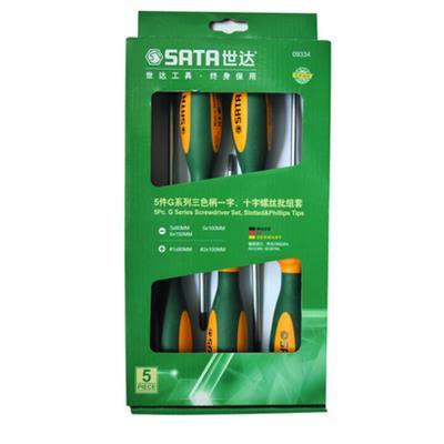 世达工具SATA5件G系列一字、十字螺丝批组套09334