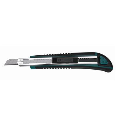 世达工具SATA橡塑柄推钮美工刀13节9x80MM93427