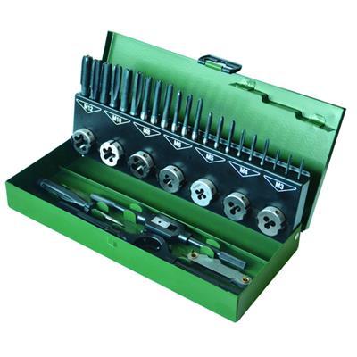 世达工具SATA32件高速钢粗牙丝锥板牙组套50452