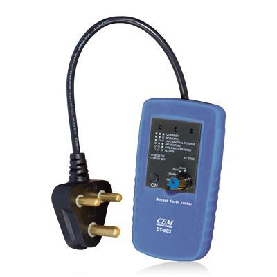 CEM华盛昌 插座相序及接地漏电流检测仪 DT-903