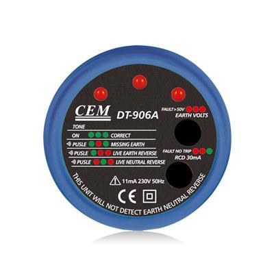 CEM华盛昌 插槽的极性和漏电测试仪 DT-906A