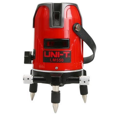 优利德LM550红光激光水平仪5线红光标线仪+三角架