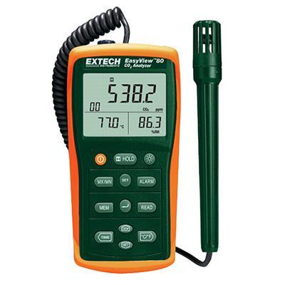 艾示科Extech EA80  EasyView™室内空气质量流量计/数据记录器